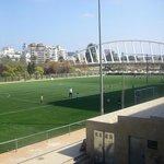 Zona deportiva en el antiguo cauce del Rio