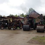 Traction engines and Steam Rollers on display at the October open day 2013