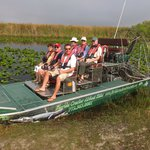 The airboat which gets close up to the various wildlife