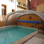 abri ouvert piscine chauffée