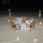 etentje voor twee op het strand