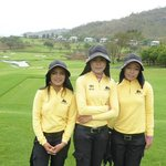Our excellent caddies - Nisa, Nu and Nam