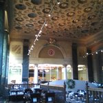Beautifully-restored Ceiling of Former Lobby