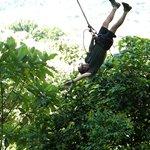 Upside down on the Tarzan Swing