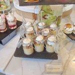 Dessert station at Christmas Brunch