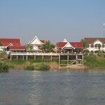 View of hotel from the Mekong River