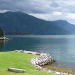 Balestrand Hotel's fjord beach for bathing and picnics