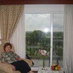 Desde las ventanas de las habitaciones se domina un paisaje exquisito