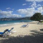 The Grand Anse beach (resort area)