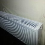New radiator, but not decorated afterwards