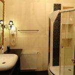 Bathroom (shower stall, sink, toilet)
