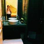 spacious bathroom with heater