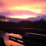 Beautiful sunset over Aston Marina