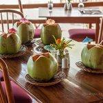 Welcoming coconut drink