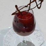 Le dessert à la fraise