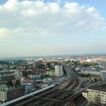 View from high floor overlooking Oerlikon station