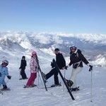 skiing at the top of the kitzteinhorn glacier Kaprun