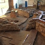 The excavation of a prison courtyard