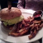 Cheese burgerwas good but fries way over cooked/salted