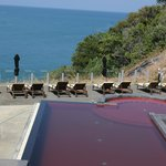 Red infinity pool