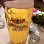 Local or almost local beer, a few km from Walchsee, Floetzinger Braeu