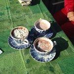 hot chocolate with rum at hotel austria