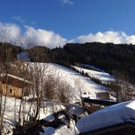 View of the piste from The balcony