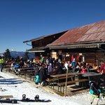 great place to eat ski right top of chair lift M1 Markbachjochbahn, Niederau
