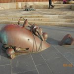 Sculptures on the promenade