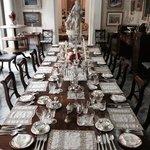 la preziosa sala da pranzo