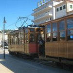THE PUERTO SOLLER TO SOLLER TRAM OUTSIDE THE HOTEL