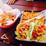 Crab and shrimp tacos