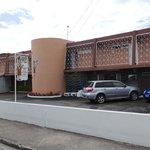 car park and entrance