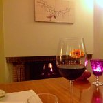 wine @fire place