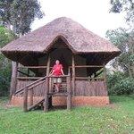 the tent lodgings at Kibale Primate Lodge