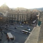 4F rooftop terrace overlooking La Rambla towards North