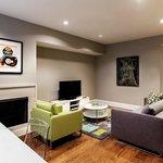 Open living area in MVP Suite with sofa sleeper