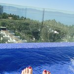 toes at the roof top pool