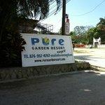 Pure Garden sign