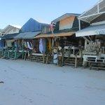 The shops on the beach