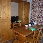 sitting/dining/kitchen/bedroom