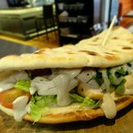 Delicious Sandwich of the day on Chargrilled Flat Bread