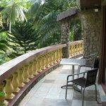 balcone sul giardino