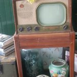 look at this!  This must have been one of the VERY first televisions!