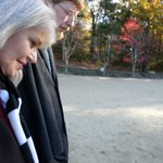 Walking on Walden Pond early morning hours, October 29, 2014