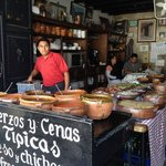 Preparing for the lunch crowd at LaCuevita