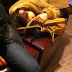 drunk girl in the lobby passed out