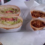 Sandwich Box torta and pulled pork sandwiches