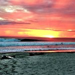 Just another amazing sunset surf in Santa Teresa