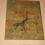 Altra immagine che racconta l'incontro di San francesco col lupo a Gubbio
